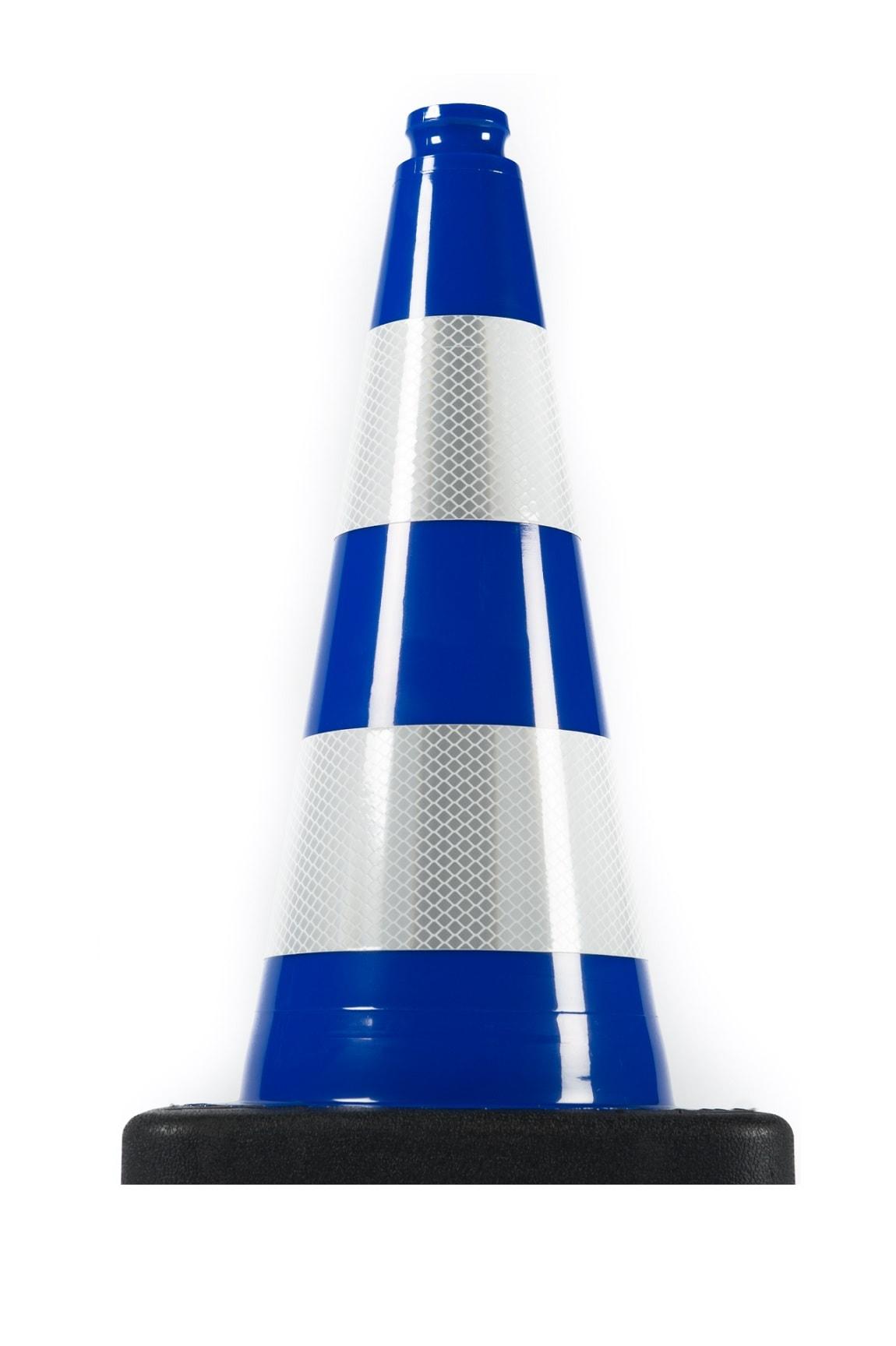 Нечупливи издържливи светлоотразителни гъвкави пътни конуси син цвят