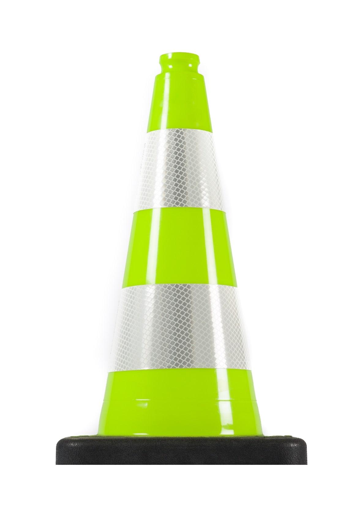 Нечупливи издържливи светлоотразителни гъвкави пътни конуси зелен цвят
