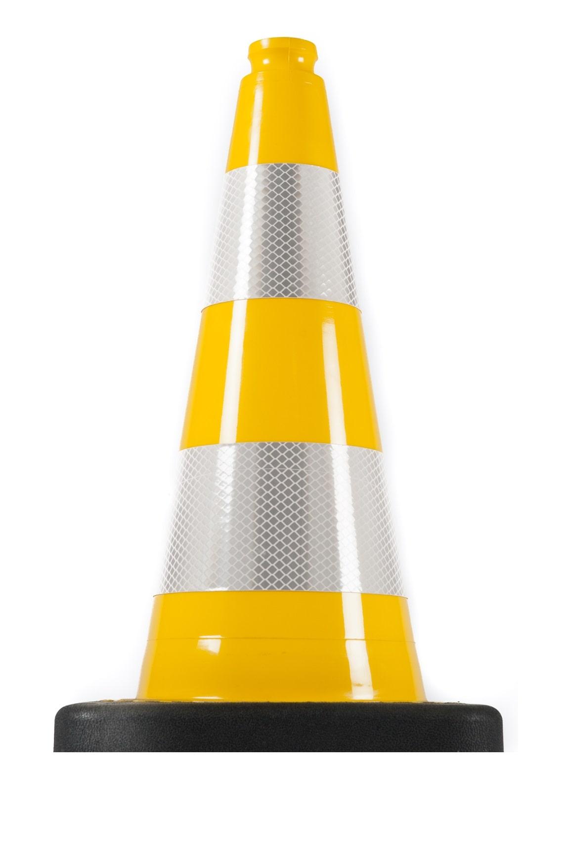 Нечупливи издържливи светлоотразителни гъвкави пътни конуси жълт цвят