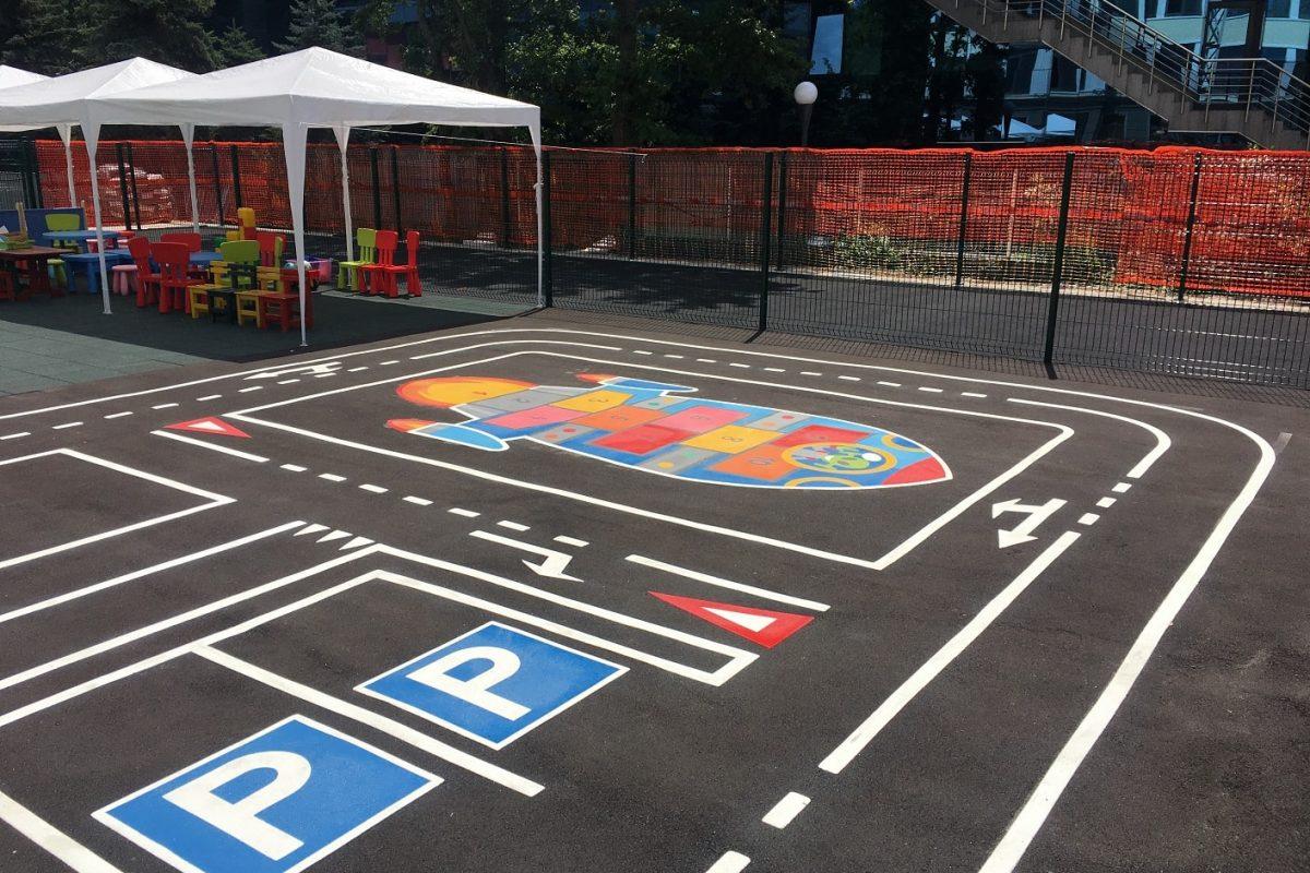 Игри за детски площадки Площадка по безопасност на движението от термопластик